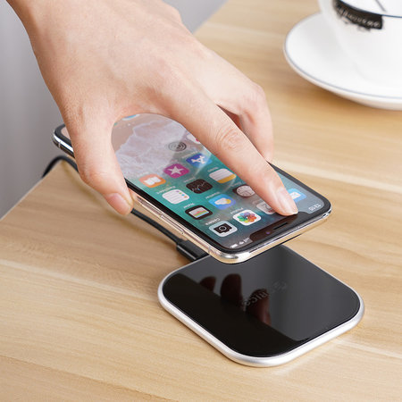 Orico  Draadloze oplader 10W - Curved glass - Zwart