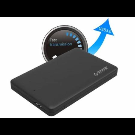 Orico  USB 3.0 harde schijf behuizing voor een 2.5 inch harde schijf - HDD/SSD - SATA III - Zwart