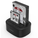 Orico  Dual bay USB 3.0 docking station voor 2.5 / 3.5 inch harde schijven met kloon functie - HDD/SSD - Incl. Datakabel en stroomadapter - LED-indicatoren - Zwart