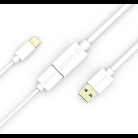 Orico  USB 3.0 male naar USB 3.0 female verlengkabel - 5Gbps - Vergulde connector - 1.5 meter - Wit