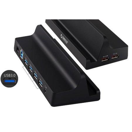 Orico  USB3.0 4 Poorten Universeel Docking Station Mobiel & Tablet met 1 Meter USB 3.0 Kabel - Zwart