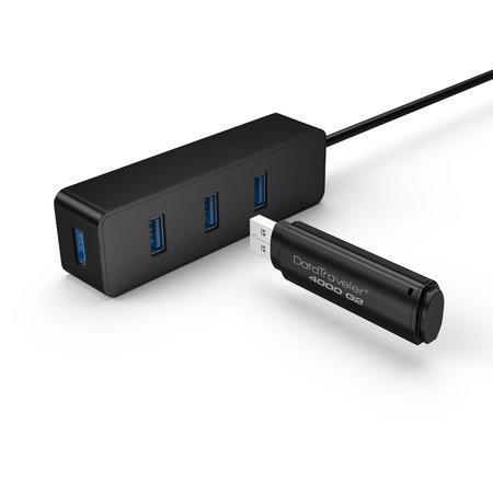 Orico  USB3.0 type-C Hub met 4 USB3.0 type-A poorten – 5Gbps – 30CM USB3.0 Datakabel – voor Windows, Linux en Mac OS - Zwart