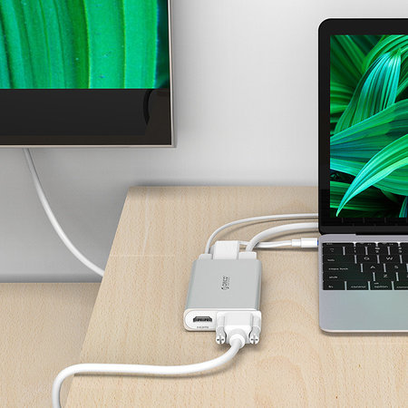 Orico  USB Type-C adapter - Multi-functioneel - 5in1 - 4k HDMI - VGA - Ethernet - Power Delivery - USB 3.1 gen1 - 5Gbps