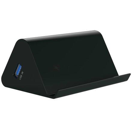 Orico  4 poort USB3.0 HUB smartphone en tablet houder - Zwart