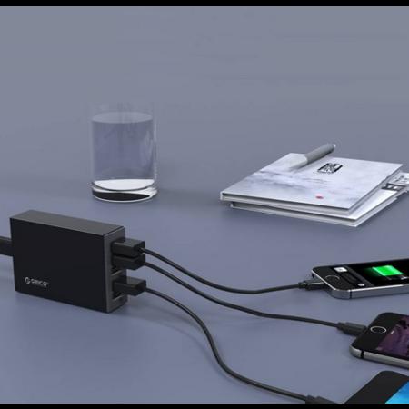 Orico  5 Poort USB Smart Desk Charger 8A/40W - Zwart
