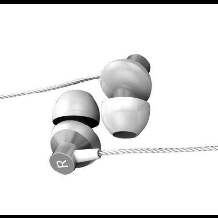 Orico   In-ear Soundplus oortjes - koptelefoon/headset met microfoon en bedieningsknopje - 3.5mm jack - Hoge audio resolutie - Lengte 1.2M - Wit