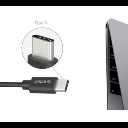 Orico  A naar USB-C laadkabel 2.4A - 15 cm - Zwart