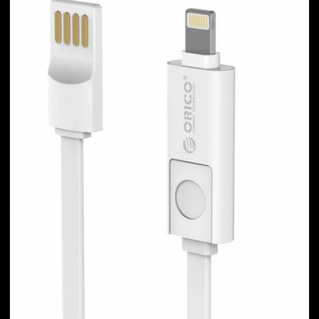 Orico  2-in-1 Lightning + Micro B oplaad- en datakabel - 1 meter - Plat design - Wit