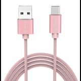 Orico  USB Type-C laad- en datakabel - 3A - Gevlochten Nylon - Aluminium - 1 Meter - Roze Metallic