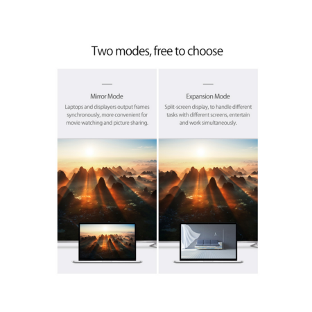 Orico   Aluminium USB-C naar Mini DisplayPort Adapter – 4K Ultra HD @60Hz - voor MacBook, Mi NoteBook Air, Huawei MateBook en Lenovo YOGA – Mac Style – 15CM Kabel – Zilver