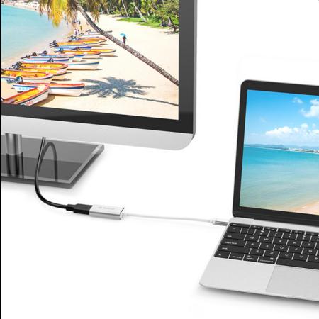 Orico   Aluminium USB-C naar HDMI Adapter – 4K Ultra HD – voor MacBook, Mi NoteBook Air, Huawei MateBook en Lenovo YOGA – Mac Style – 15CM Kabel – Zilver