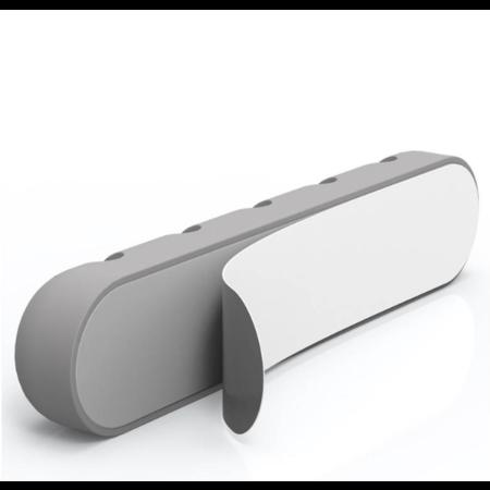 Orico  Zelfklevende kabelhouder - Organiseer tot 5 kabels van 5mm dik - 3M - grijs