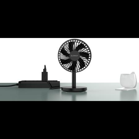Orico   Desktop ventilator slim design - 45 graden draaibaar - Zwart