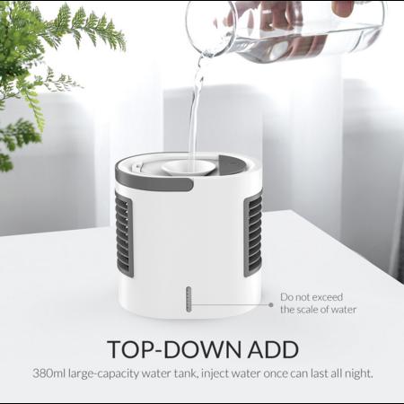 Orico  USB dekstop ventilator / bevochtiger - 380ml reservoir - LED-verlichting
