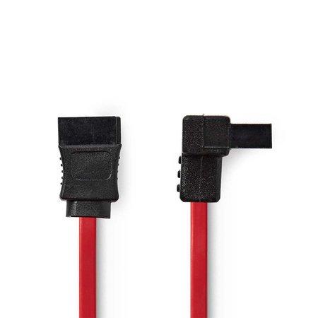 Kabel S-ATA Rood Haaks 0.50m