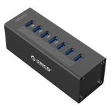 Orico  USB 3.0 hub met 7 poorten en externe voeding, zwart
