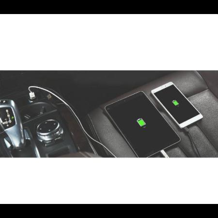 Orico   Stijlvolle autolader met USB-C en USB-A poorten – Aluminium legering - 12V/24V – 5V-3.1A max. – Intelligente Chip –