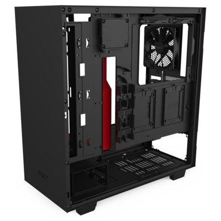 NZXT Case  H510i Zwart / Rood Glass window