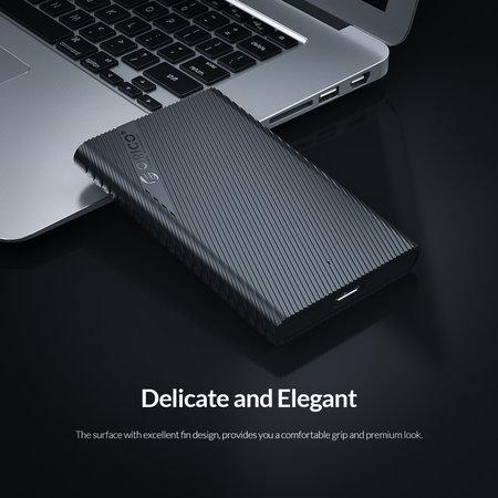 Orico  2.5 inch draagbare harde schijf behuizing – uniek design – zwart