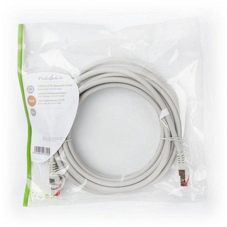 S/FTP CAT6 RJ45netwerkkabel 5,0 m grey