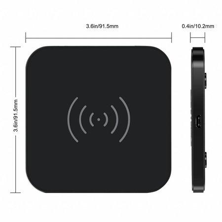 Choetech Draadloze QI Smartphone oplader - 10W – 5V-2A - Fast Charge - Anti-Slip Design - Zwart