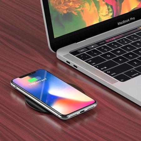 Draadloze QI inbouw lader voor een smartphone - 5V-2A - Opladen tot 10W - Kabellengte: 1.5M - Zwart