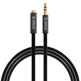 Orico  3.5mm jack stereo audio verlengkabel Male -> Female - 1 meter - Zwart
