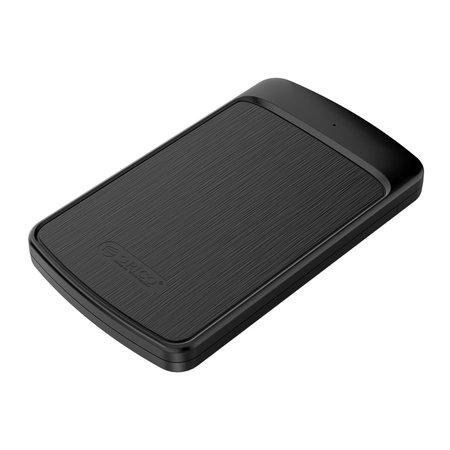 Orico  2.5 inch harde schijf behuizing met sliding cover - geborsteld zwart