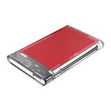 Orico  2.5 inch harde schijf behuizing - transparant/aluminium - rood