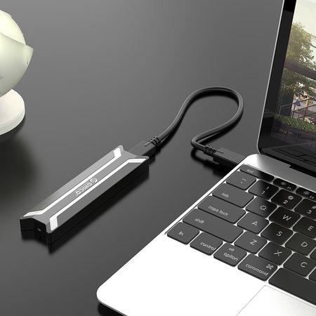 Orico  Orico NVMe M.2 SSD behuizing - zwart/zilver- aluminium