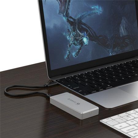 Orico  Thunderbolt™ 3 NVMe M.2 SSD  behuizing – 40Gbps - uniek design - Sky Grey