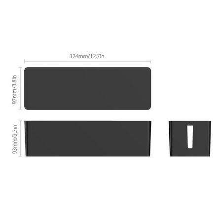 Orico  Compacte stekkerdoos beschermer – Kabelmanagement – Extra veiligheid voor Kinderen/Huisdieren – Warmtebestendig ABS-materiaal zwart