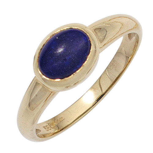 Jobo Damen Ring 585 Gold Gelbgold 1 Lapislazuli blau Goldring