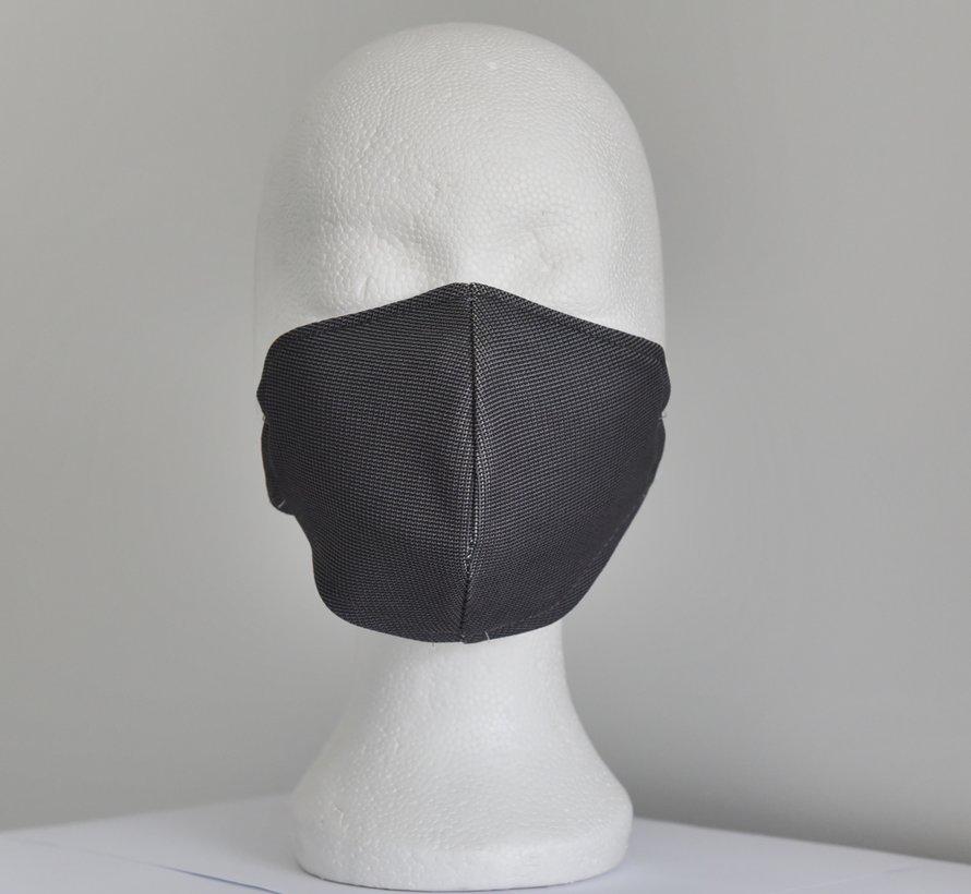 2 dubbelzijdige wasbare mondmaskers van stof (zebra/zwart en wit)