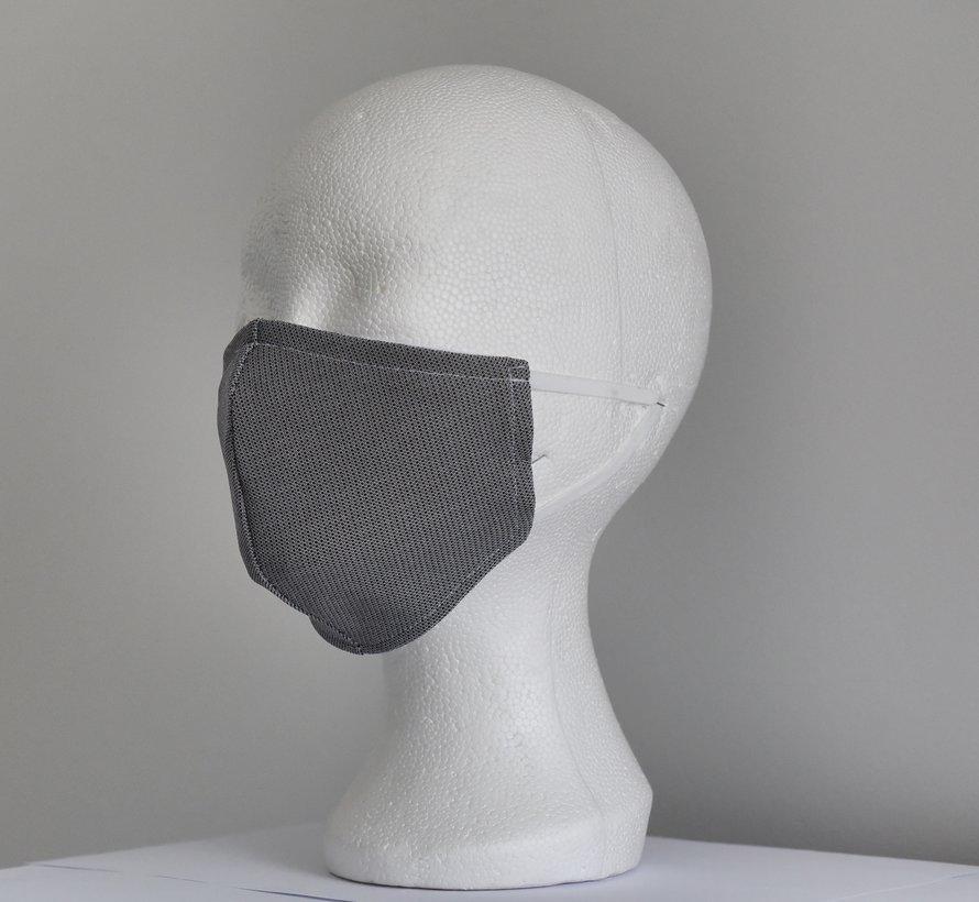 2 dubbelzijdige wasbare mondmaskers van stof (dieren print/grijs en wit)