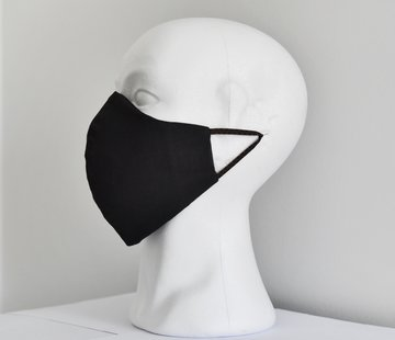 DispoDeals 2x 2 laags wasbare mondmaskers van stof (zwart)