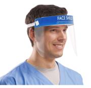 DispoDeals 10 Face Shields anti-fog voor directe bescherming (spatmasker, beschermingsmasker, gelaatsmasker)
