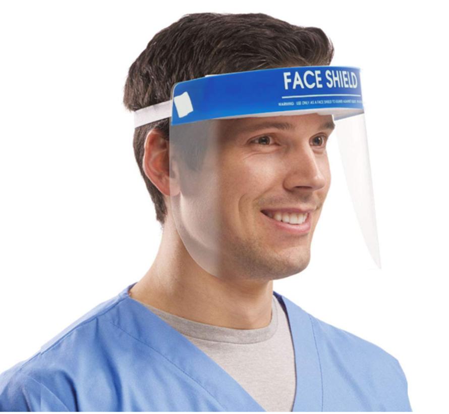 10 Face Shields anti-fog voor directe bescherming (spatmasker, beschermingsmasker, gelaatsmasker)
