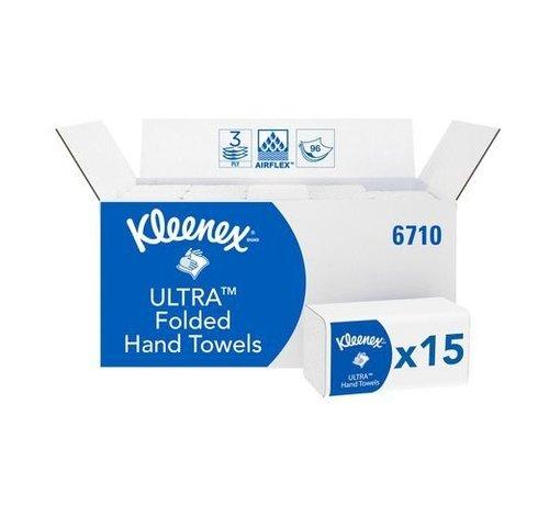 Kleenex Handdoek Kleenex Ultra 3-Laags wit/doos 15x96 vel 6710