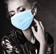 Akzenta MEDISCHE IIR/2R mondmaskers met elastiek blauw 3 laags (50 stuks)