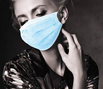 Akzenta Akzenta TOPMASK blauwe IIR/2R mondmaskers met elastiek 20x50 stuks (vanaf € 4,45 per 50 stuks)
