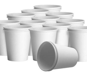 DispoDeals Witte kartonnen drinkbekers met een inhoud van 180 ml (1000 stuks)