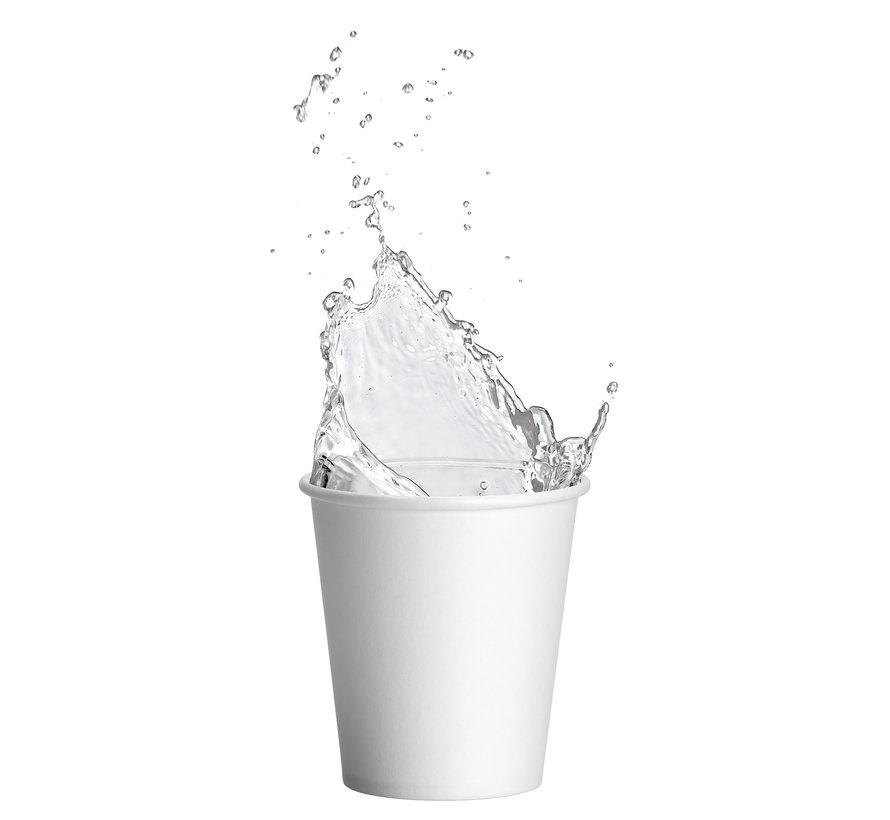 Witte kartonnen drinkbekers met een inhoud van 180 ml (1000 stuks)