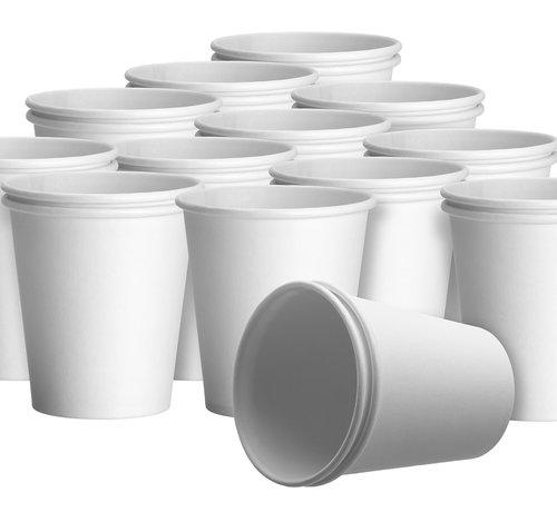 DispoDeals Witte kartonnen drinkbekers met een inhoud van 180 ml (100 stuks)