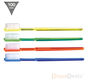Wegwerp tandenborstels inclusief tandpasta, per stuk verpakt (100 stuks)
