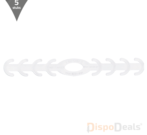 DispoDeals Ear Savers wit (vijf stuks)