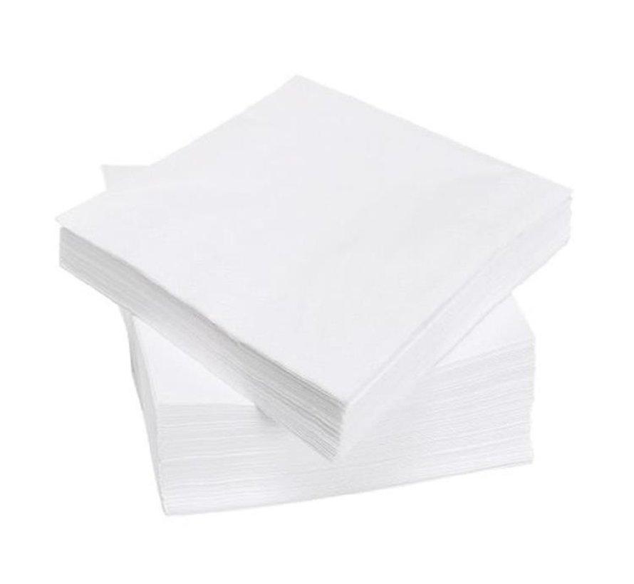 Servet 33x33cm wit 2laags cellulose 3000st (158030)