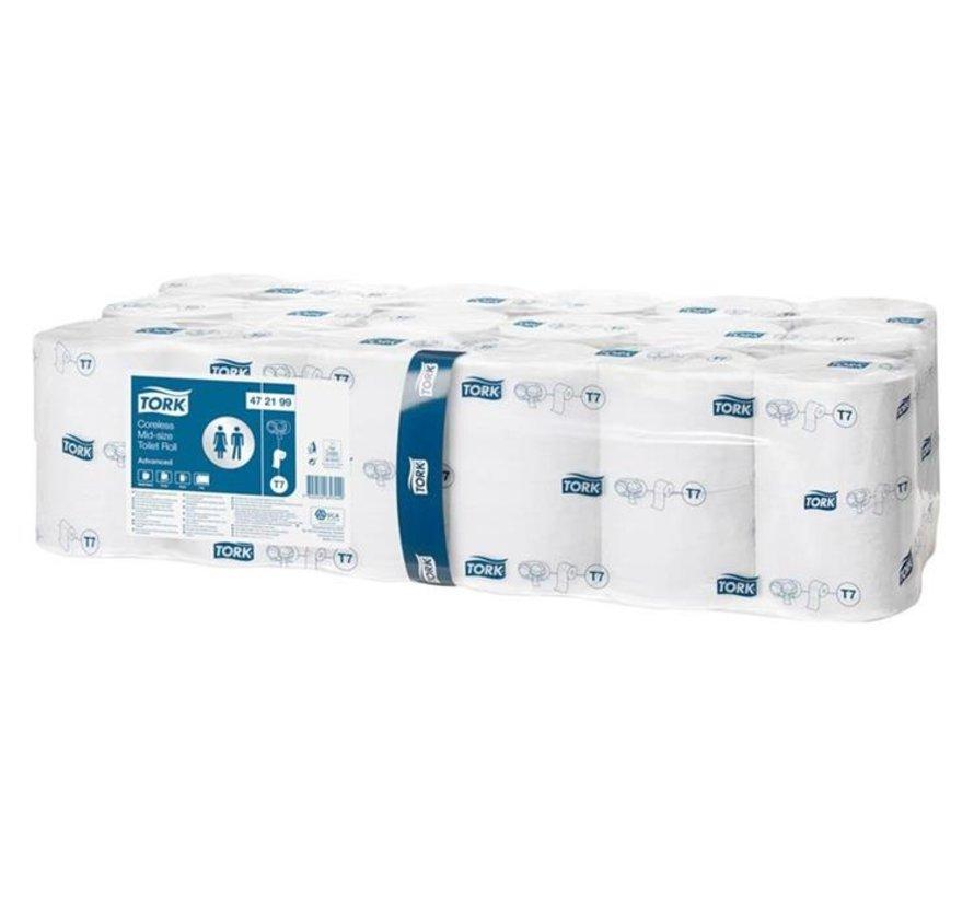 Tork Hulsloos Mid-size Toiletpapier 2-laags Wit T7 Advanced 36x900 vel