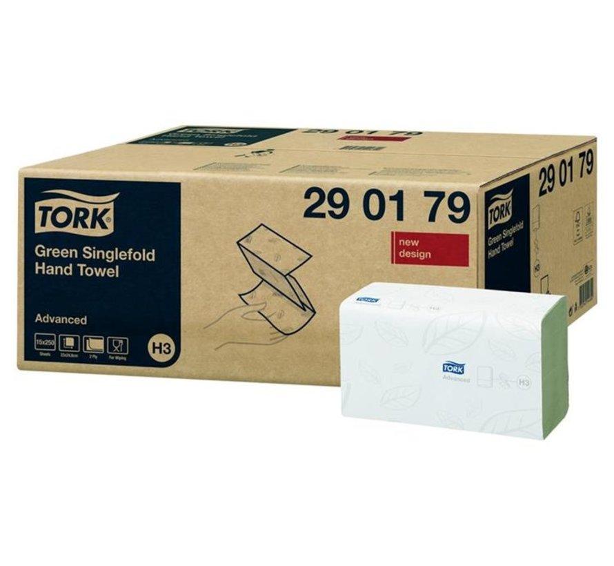 Tork 290179 Advanced handdoek 23x24,8cm z-vouw - 2-laags wit (15x 250 stuks)
