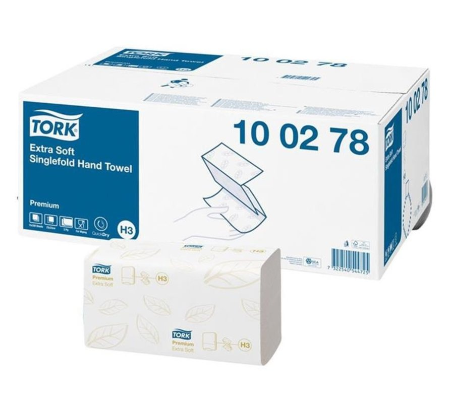 Tork Handdoek Extra Zacht wit 2-laags 23x23cm 100278